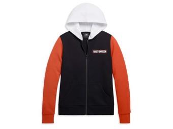 Sweatjacke HD Orange/Black