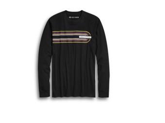 Langarmshirt Retro Black