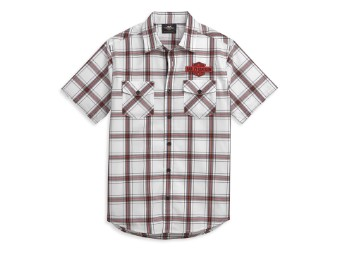 Hemd Kurzarm Red Bar & Shield Logo