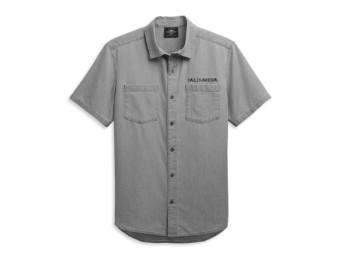 Kurzarm Hemd Woven Grey