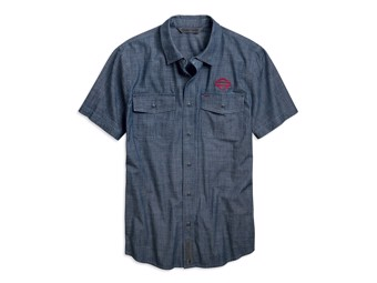 Hemd Embroidered Chambray