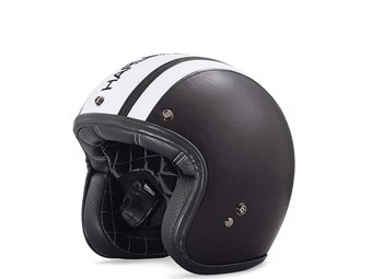 Helm Leather Covered Retro