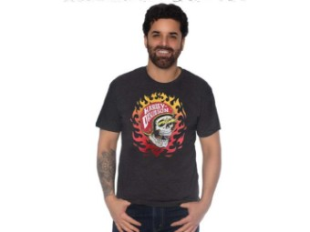 T-Shirt Skull Flames