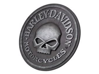 H-D Skull Pub Sign Wandbild