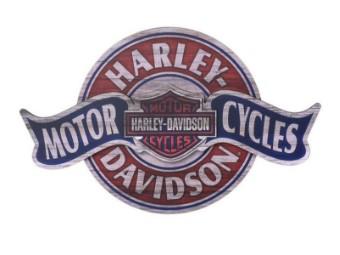 Motorcycles Banner Wandschild