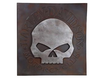 Wandbild 3D H-D Skull Metal