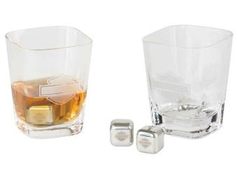 B&S Glasset mit 4 Eiswürfeln