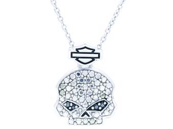 Halskette Bling Skull