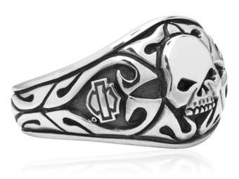Ring Carved Skull Signet