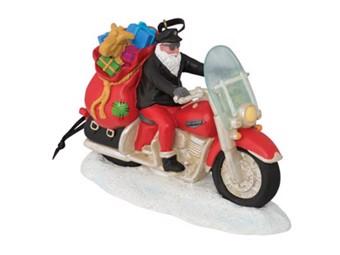 Weihnachtskugel Biker Santa Winter