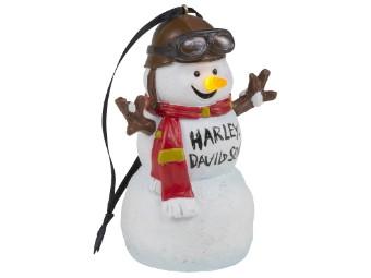 Christbaum Anhänger Biker Snowman LED