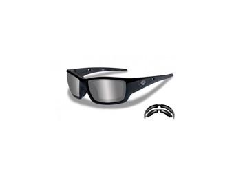 Brille Harley-Davidson Men's Shadow-Alt Fit Gloss Black Frames Sunglasses