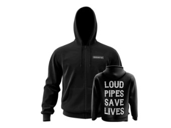 Bobber Sweatjacke Loud Pipes Save Lives