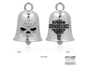 Glocke White Crystal Willie G Skull