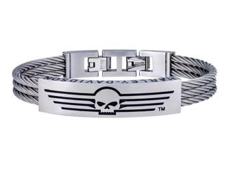 Armband Skull & Lines