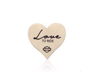 Milestone Plate Gold Love to Ride Heart