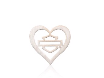 Milestone Plate Gold B&S Heart