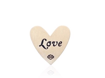 Milestone Plate Gold Love Heart