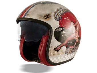 Helm Pin Up silber