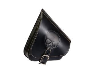 Solo Seitentasche Softail Leder - AGM - Skull groß