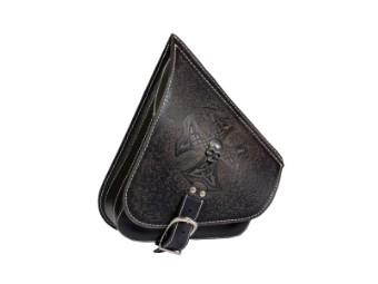 Solo Seitentasche Softail Leder - AGM - Skull und Kreuz