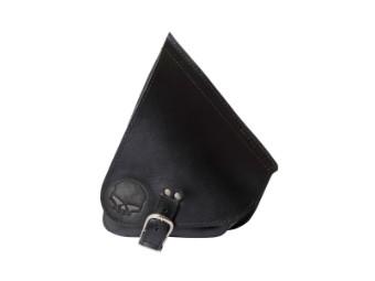 Solo Seitentasche Softail Leder - AGM - Skull klein