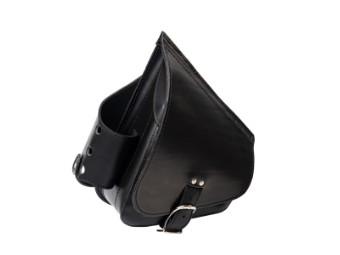 Solo Seitentasche mit Flaschenhalter Softail Leder - AGM - neutral