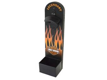 Wandflaschenöffner H-D Flames