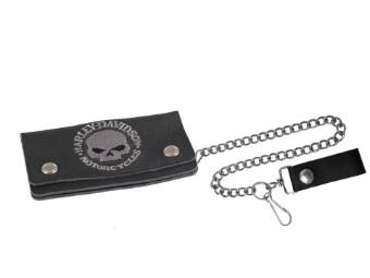Geldbörse Skull Grey / Black