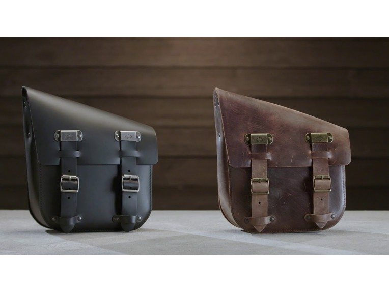 Harley-Davidson Einseitige Schwingentasche braun und schwarz