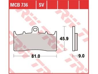 MCB 736 Scheibenbremsbeläge