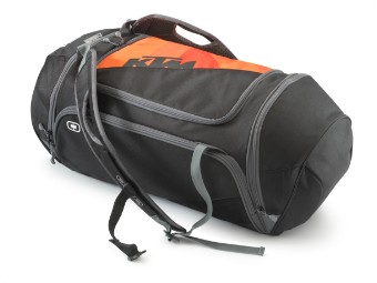 ORANGE DUFFLE BAG