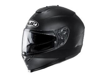 C70 Motorradhelm in matt schwarz