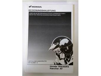 Bedienungsanleitung für Honda ATV TRX400FA