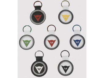 Schlüsselanhänger Logo Leder