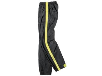 Regenhose Difi Zip mit Reißverschluss - schwarz gelb