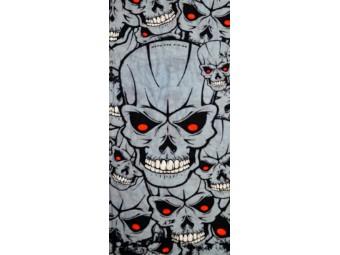 Multifunktionstuch 110630 Skulls Grey Halstuch