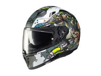 i70 Bane DC Comics Motorrad Helm