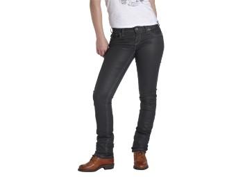 The Diva Black Damen Motorrad Jeans