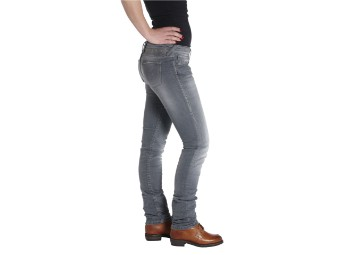 The Donna Grey Damen Motorrad Jeans