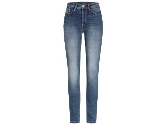 Rokkєrtech High Waist Blue Lady Damen Motorrad Jeans