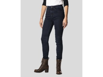 Rokkєrtech High Waist Dark Blue Damen Motorrad Jeans