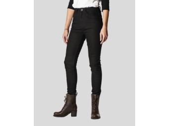 Rokkєrtech High Waist Black Damen Motorrad Jeans