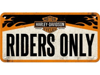Riders Only Hanging Sign Wand Schild