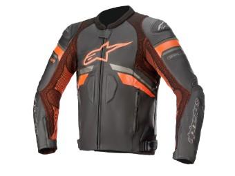 GP Plus R V3 Rideknit Motorrad Lederjacke