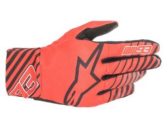 Aragon MM93 Rot/Schwarz Motorradhandschuhe