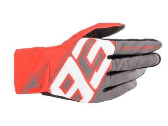 MM93 Aragon Grau/Rot Motorradhandschuhe