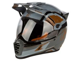 Krios Pro Rally Metallic Bronze Enduro Motorrad Helm