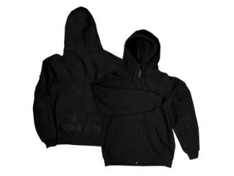 Full Zip Hoodie Sweatshirt, schwarz