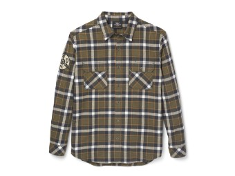 Plaid Flannel Shirt langarm Hemd